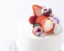ディネA+メッセージ付ホールケーキ(記念日)