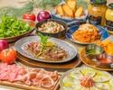 48時間熟成豚肩ロースなどメインのお肉が選べる全7品 ベル豚★スタンダードコース+飲み放題付き 3850円(税込み)