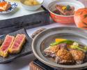 【全個別盛り】岩中豚陶板焼きや金目鯛、海の幸をお楽しみ頂ける全7品「蒼~aoi~」コース4400円(サ別)