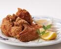 【テイクアウト】三笠会館伝統の味 骨付き鶏の唐揚げ(8個) 胡麻塩&マスタード添え