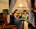 ボトルシャンパン1本とスペシャルフルーツプレート付きのガゼボ(屋根付きプライベートテーブル)※一部17時~19時