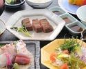 【ステーキ会席】 先附、刺身、焚合、サラダなど