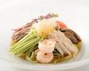 五目冷麺 (醤油味 または 胡麻味)