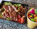 【テイクアウト】みかわ牛ゴールドサーロインステーキ重弁当(牛肉150g)&こだわりサラダ