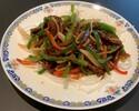 牛肉細切りとピーマンの炒め(デリバリー)