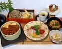 【彩うなぎ御膳】うなぎごはんをメインに、治部椀・そば・天ぷらなど贅沢和食!ホテル高層階で優雅なひとときを