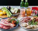 土日BBQ【肉×オマール海老やホタテの海鮮×野菜】オーシャンビューバーベキュー!【スタンダードプラン】