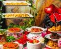 【7・8月】【日曜限定デザートビュッフェ】~ハートの女王の休日~ 赤いバラ咲くローズティーパーティー