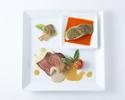 【11:30予約限定】お肉&お魚のダブルメインプレートランチ+サラード&スイーツアイランド付