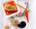 【13:30予約限定】お肉&お魚のダブルメインプレートランチ+サラード&スイーツアイランド付