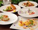【ランチコースB】前菜・パスタ・肉も魚もWメイン・デザート・コーヒー付き(全5品)〜
