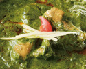 [Curry separately] Saag Chicken Curry