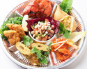 Indian Style Appetizer Platter