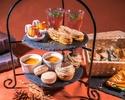 《Autumn afternoon》栗やぶどう・カボチャを使った3段デザートスタンド&カフェドリンクおかわり自由
