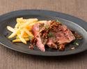 【テイクアウト】牛ロース肉の網焼き ガーリック醤油ソース (150g)