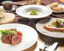 【TS】【ディナー】フォアグラと牛フィレ肉のロッシーニ 黒トリュフソースなど全5品