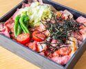 """【お肉ダブル】アメリカンビーフ""""極黒牛""""ローストビーフ丼"""