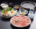 お昼のすき焼定食(合い盛り120g)¥6930
