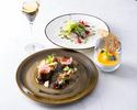 ランチ【前菜&お魚又はお肉料理&デザート】全3品+フリーフロー