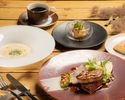 [TS] [Lunch] Appetizer, foie gras and beef fillet Rossini, all 3 dishes
