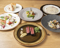 【 ディナーコース 料理5品】スタイリッシュな空間で牛フィレの炙りや名物の国産和牛薪焼きを堪能プラン