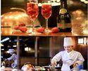【12/23~12/25限定★クリスマスディナーJACK】乾杯酒フラゴラスプマンテとパティシエ特製クリスマスデザートを楽しむ全8皿