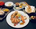 三種の蟹を食べ比べ『お昼のミニ懐石』.
